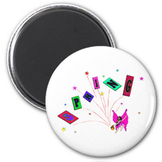 Spring Fairy great graphics 2 Inch Round Magnet