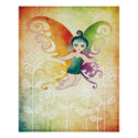 spring fairy poster print