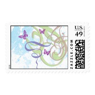 Spring Fantasy -Swirls & Butterflies Med. Postage