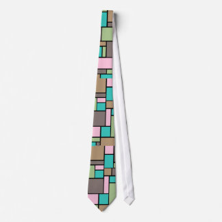 Spring Fashion color Abstract Rectangle  pattern Neck Tie
