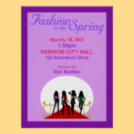 Spring Fashion Show Poster print