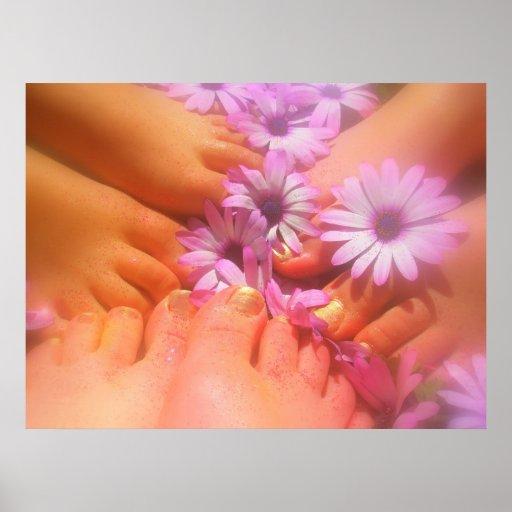 Spring Feet Poster