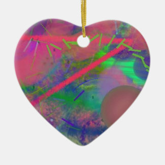 Spring Fever Abstract Pastel Heart Ornament