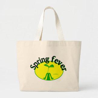 Spring fever large tote bag