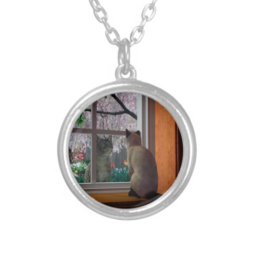 Spring Fever Round Pendant Necklace