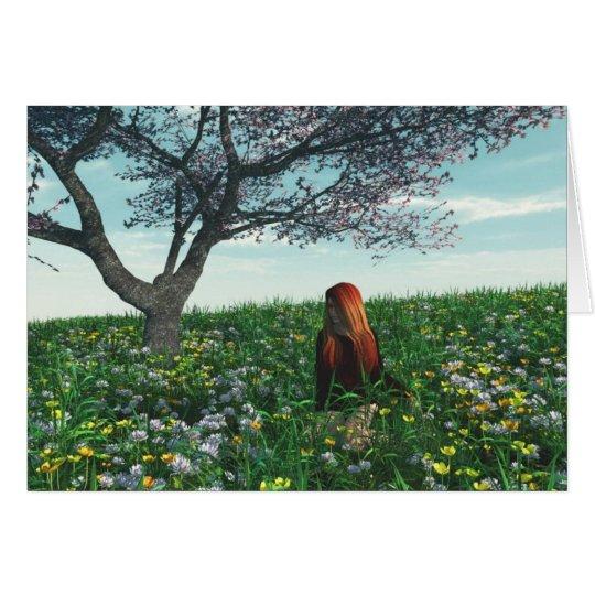 Spring Field (Blank) Card