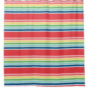 SPRING FIESTA Stripes Shower Curtain