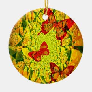 Spring Fling Ceramic Ornament