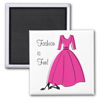 Spring Fling Fashion 2 Inch Square Magnet