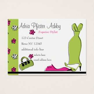 Spring Fling Fashion Business Card