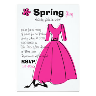 Clothing store invitations announcements zazzle spring fling fashion illustration card stopboris Images