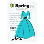 Spring Fling Fashion Illustration Card