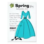 Spring Fling Fashion Illustration Invitation