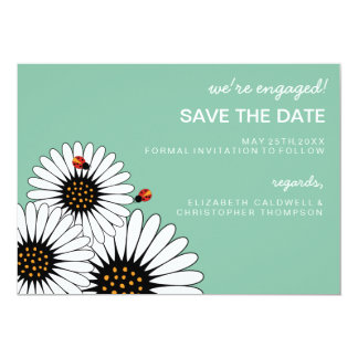 Spring Fling Gerbera Daisies SAVE THE DATE 5x7 Paper Invitation Card