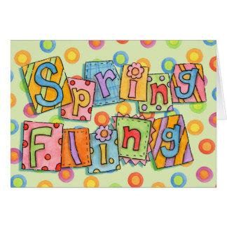 Spring Fling - Greeting Card