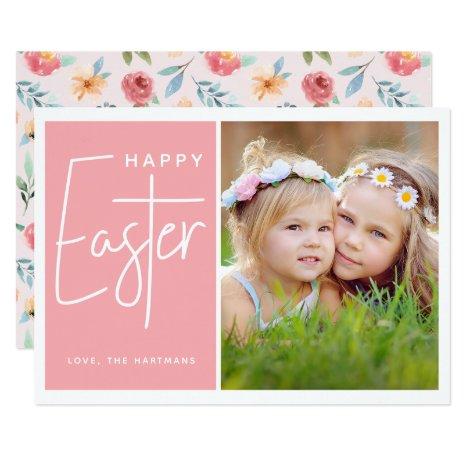 Spring Fling   Photo Easter Card