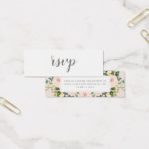Spring Flora Blush | Wedding RSVP Online Card