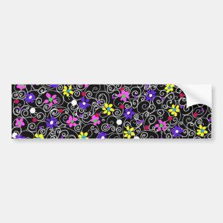 Spring Floral Art Bumper Sticker