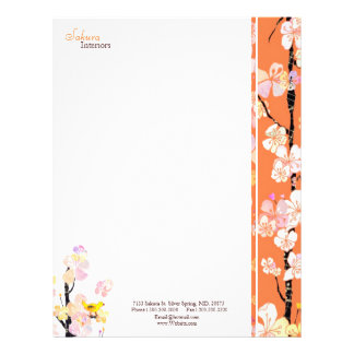 Spring Floral Bird Home Interior Business Letterhead