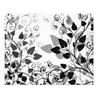Spring Floral Black and White Flyer