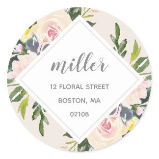 Spring Floral Blush | Address Sticker