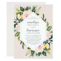 Spring Floral Blush | Wedding Invitation