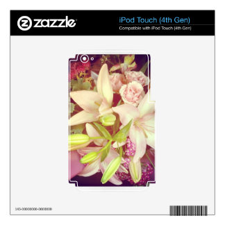 Spring Floral Boquet Skins For iPod Touch 4G