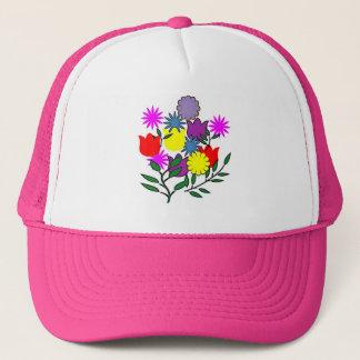 Spring floral bouquet hat