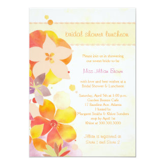 Spring Floral Bridal Shower Luncheon Invitation