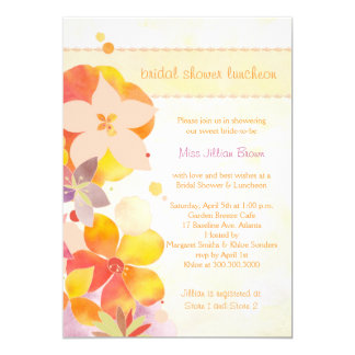 Spring Floral Bridal Shower Luncheon Party Invites
