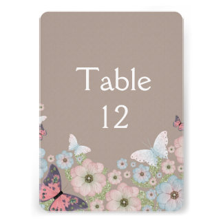Spring Floral Butterfly Garden Table card