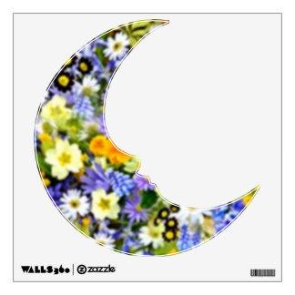 Spring Floral Color Burst Collage Wall Sticker