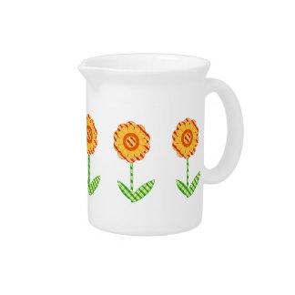Spring Floral Design Beverage Pitchers