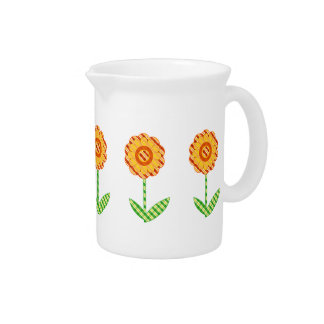 Spring Floral Design Drink Pitcher