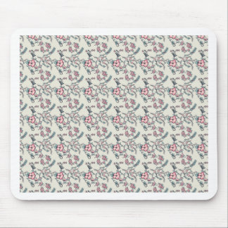 Spring floral design mouse pad