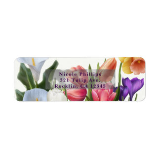 Spring Floral Easter Egg Bridal Shower Invitation Label