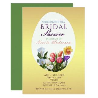 Spring Floral Easter Egg Bridal Shower Invitations