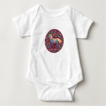 Spring Floral Horses Vector Seamless Pattern Baby Bodysuit