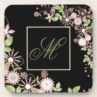 Spring Floral Monogram ID190 Coaster