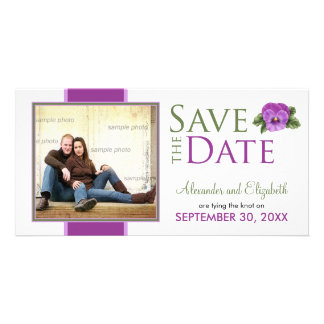 Spring Floral Pansies Save the Date Announcement Photo Greeting Card