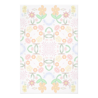 Spring Floral Repeat Pattern Stationery