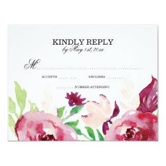 Spring Floral   RSVP Cards