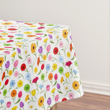 Spring Floral Tablecover Tablecloth