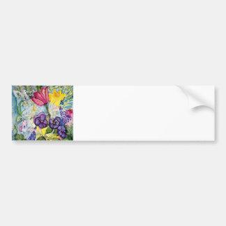 Spring Floral Watercolor Bumper Sticker