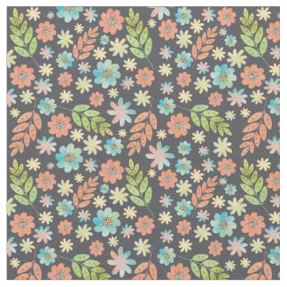 Spring Floral Watercolor Pattern Fabric