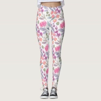 Spring Floral Watercolours: Aggressive Flowerchild Leggings