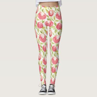 Spring Floral Watercolours: Rose By Any Other Name Leggings
