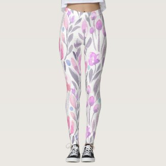 Spring Floral Watercolours: Tulips A Dancing Leggings