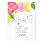Spring Floral Wedding Postponed Change the Date Invitation