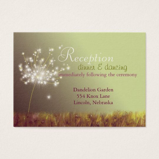 Spring Floral Wedding Reception Business Card